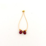 2 Count 5mm Red Sapphire Faceted Pears (Sale)