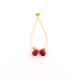2 Count 6mm Red Sapphire Faceted Pears (Sale)
