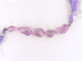 5 Count Varied Size Amethyst Faceted Nuggets