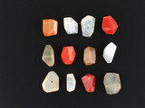 16 Count Varied Sizes Peach And White Moonstone Simple Cut Nuggets (Sale)