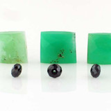 7 Count Chrysoprase & Black Cz Fac Rectangle/Ron (Sale)