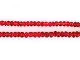 250 Count Graduated Red Spinel Faceted Rondelles  (Sale)