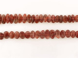 47 Count African Sunstone Polished Smooth Side Drilled Pebbles
