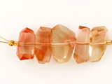 5 Count Oregon Sunstone Faceted Side Drilled Nuggets (Sale)