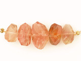 5 Count Oregon Sunstone Multi Faceted Side Drilled Nuggets (Sale)