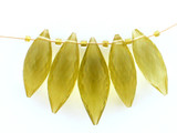 5 Count Graduated Lemon Topaz Faceted Pointed Drops (Sale)