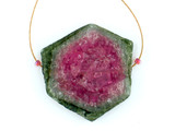 1 Count Light Pink And Green Watermelon Tourmaline Polished Slice (Sale)