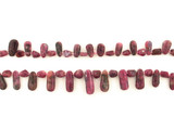 """55 Count Graduated Dark Pink Tourmaline Smooth Drops And Pebbles """"1 Of A Kind"""" (Sale)"""