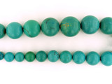 31 Count Graduated Blue-Green Turquoise Smooth Polished Rounds (Sale)