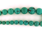 31 Count Graduated Blue-Green Turquoise Smooth Polished Rounds (1) (Sale)