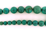 31 Count Graduated Blue Turquoise Smooth Polished Rounds (Sale)