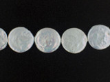 22 Count 20mm White Pearl Coins (Sale)