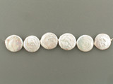 6 Count 20mm White Pearl Coins (Sale)