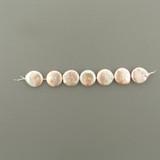 7 Count 16mm Peach Pearl Coins (Sale)