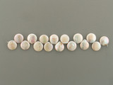 16 Count 12-16mm Ivory Pearl Top Drilled Coins (Sale)