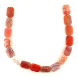16 Count 19x26mm Fire Agate Polished Rectangles (Sale)