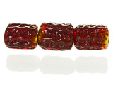 5 Count Red Gold Lampwork Bead (Closeout)