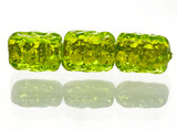 5 Count Green Gold Lampwork Bead (Closeout)