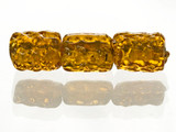 5 Count Topaz Gold Lampwork Bead (Closeout)