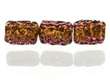 5 Count Amethyst Gold Lampwork Bead (1) (Closeout)