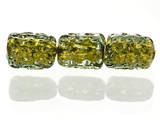 5 Count Green Gold Lampwork Bead (1) (Closeout)