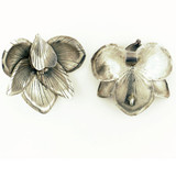1 Count Large Thai Silver Flower Pendant (Closeout)