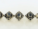 6 Count 11x11mm Indian Silver Moonstone Inlay Hollow Diamond (Sale)