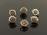 6 Count 12x11mm Bali Silver Hollow Beads (Sale)