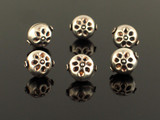 6 Count 13x11mm Bali Silver Hollow Flower Shape Beads (Sale)
