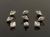 10 Count 11x9mm Bali Silver Hollow Diamond Shape Beads (Sale)