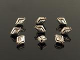 10 Count 11x9mm Bali Silver Hollow Diamond Shape Beads (Sale)