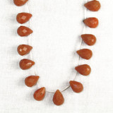 25 Count Lg Red Aventurine Faceted Drops (Closeout)