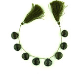 8 Count 15-17mm Olive Green Cz Faceted Pear (Sale)