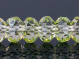 40 Count 8mm Apple Green Cz Faceted Rondelles