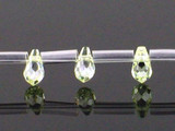 25 Count 7 X 5mm Apple Green Cz Faceted Briolettes
