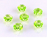 6 Count 8mm Apple Green Cz Faceted Rondelles (Sale)