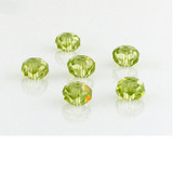 6 Count 8mm Peridot Cz Faceted Rondelles (Sale)