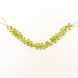 42 Count 6mm Light Green Cubic Zirconia Faceted Long Pears (Sale)