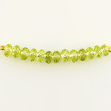 13 Count 6mm Peridot Cubic Zirconia Faceted Rondelles (Sale)