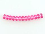 13 Count 6mm Pink Tourmaline Cubic Zirconia Faceted Rondelles (Sale)