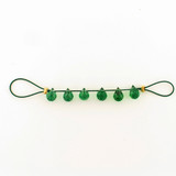 6 Count 7x5mm Emerald Green Cubic Zirconia  Faceted Briolettes (Sale)