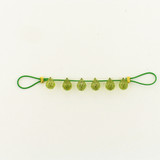 6 Count 7x5mm Peridot Cubic Zirconia  Faceted Briolettes