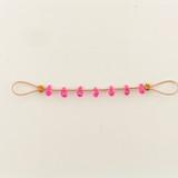 7 Count 5x3mm Pink Tourmaline Cubic Zirconia  Faceted Briolettes (Sale)
