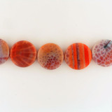5 Count 20mm Fire Agate Polished Coins (Sale)