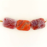 3 Count 30x20mm Fire Agate Polished Rectangles (Sale)