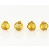 6 Count 5x5mm Yellow Cz Faceted Pears (Sale)