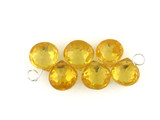 6 Count 7x7mm Yellow Cz Faceted Pears (Sale)
