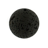 1 Count 25mm Black Lava Rock Round (Sale)