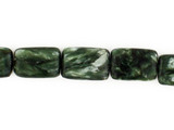 11 Count 12x8mm Seraphinite Polished Rectangles (Sale)