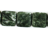 11 Count 12mm Seraphinite Polished Squares (Sale)